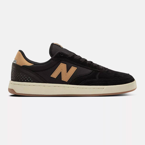 New Balance Numeric 440 Black Brown Suede Shoes