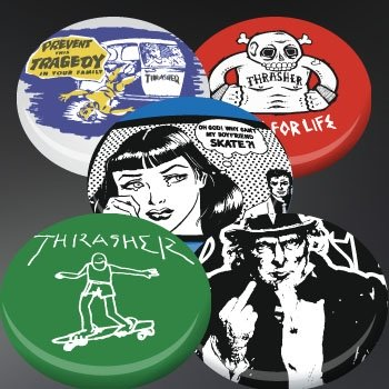 Thrasher Magazine Usual Suspects 5-pack Buttons