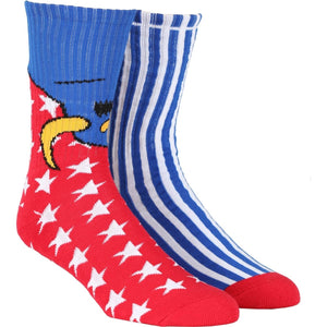 Toy Machine American Monster Blue Crew Socks