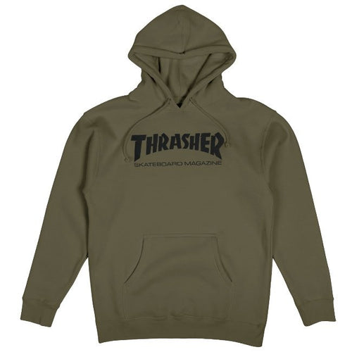 Thrasher Skate Mag Army Hooded Sweatshirt