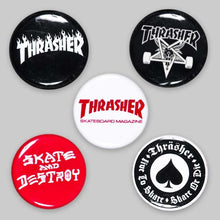 Load image into Gallery viewer, Thrasher Magazine Logo 5-pack Buttons