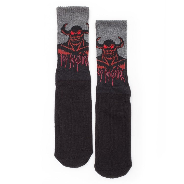 TOY MACHINE HELL MONSTER CREW BLACK SOCKS