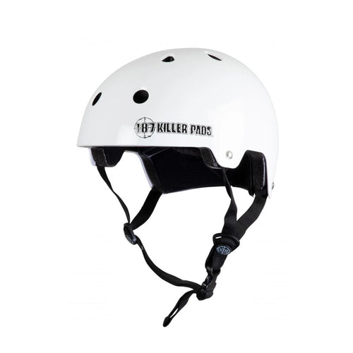 187 Killer Pads Certified White Youth Helmet