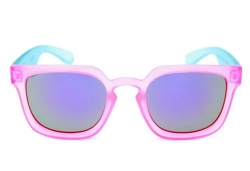 HAPPY HOUR WOLF PUPS LEABRES PINK CLEAR BLUE SUNGLASSES
