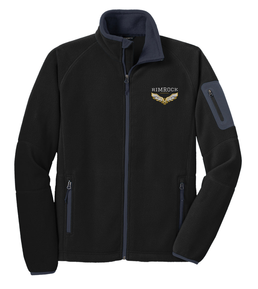 Embroidered Full Zip Fleece Jacket