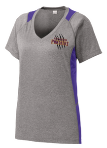Ladies Colorblock V-neck