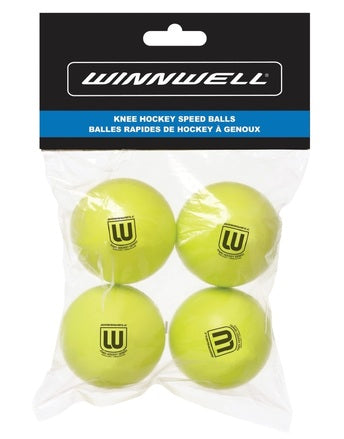 WINNWELL MINI KNEE HOCKEY BALL 4-PACK