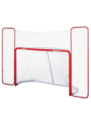 "BAUER PERFORMANCE 72"" GOAL NET W/ BACKSTOP"