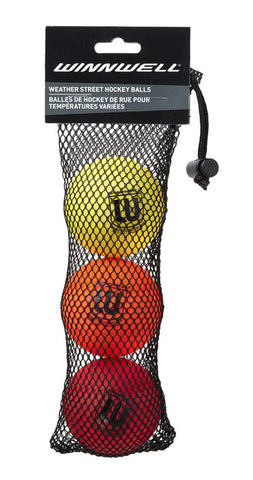 STREET HOCKEY BALL - WEATHER 3 PACK
