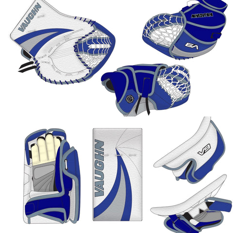 VAUGHN V9 XP PRO CARBON DOUBLE SWIRL SR GOAL CATCHER & BLOCKER