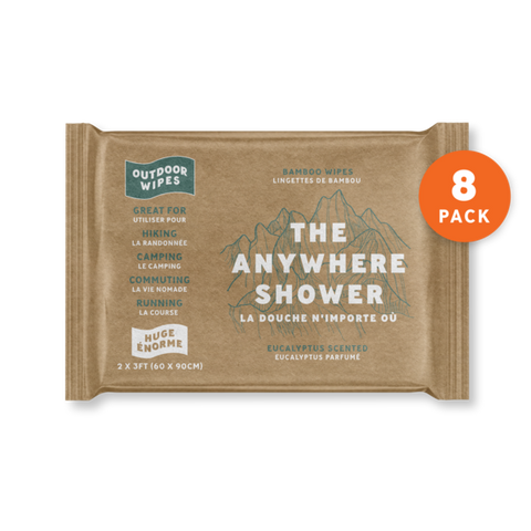 OUTDOOR SHOWER WIPE HUGE - SINGLE PACK
