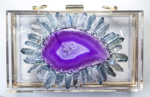 Purple Agate Crystal Clutch