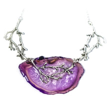 Reversible Purple Agate Statement Necklace