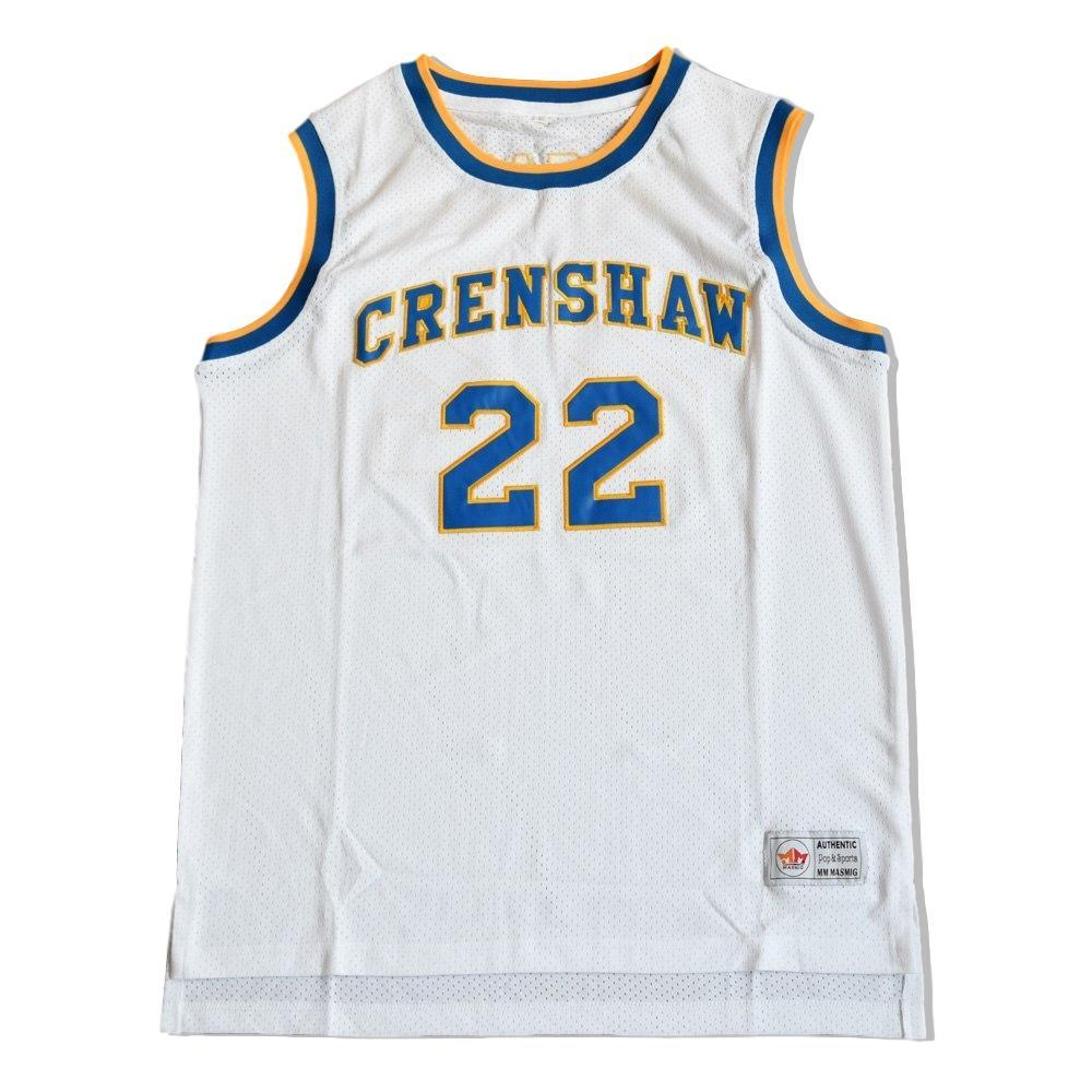 05e3b59a17ee ... Quincy McCall  22 Crenshaw High School Jersey Stitched White Love And  Basketball ...