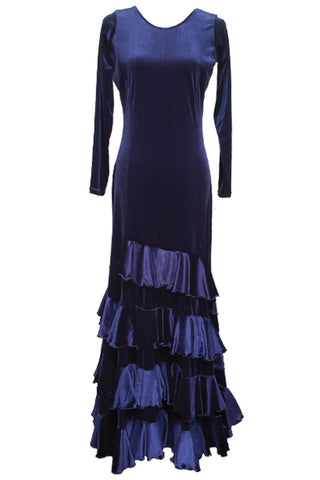 Blue Velvet dress Size M/L