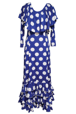 Blue dot dress Size L