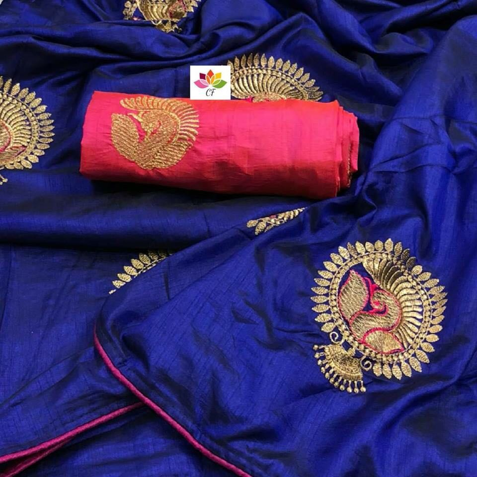 Admirable Blue Color Designer Sarees