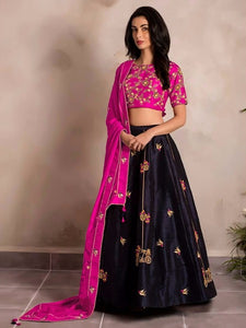New Look Pink Color Tapeta Silk Designer Lehenga Choli
