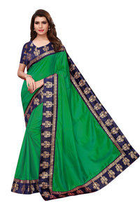 Radiant Green Color JAQUARD Designer Saree