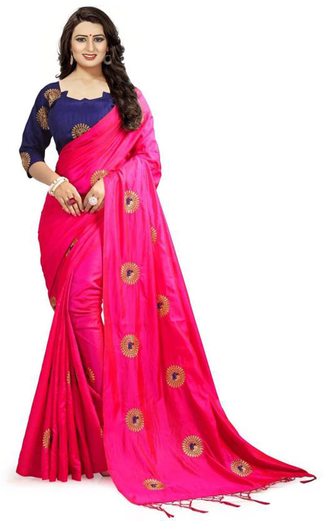 Admireable Pink Color JAQUARD Designer Saree