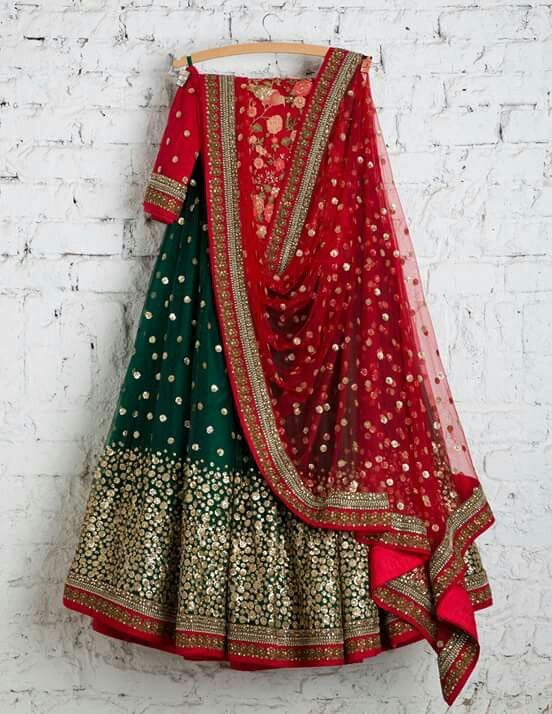 Rich Green Color Embroidery Work Lehenga Choli
