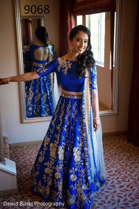 Latest Blue Color Embroidery Work Lehenga Choli