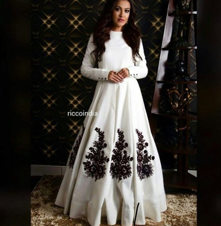 New Look White Color Embroidery Work Lehenga Choli