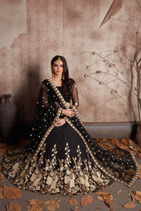 Deserving Black Color Embroidery Work Lehenga Choli