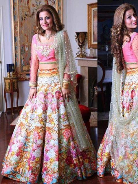 Fancy Multi Color Banglori Silk Lehenga Choli