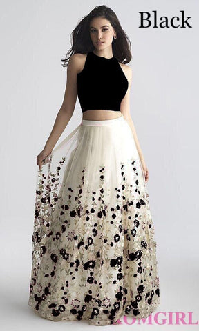 Adhesive Black And White  Color Net Embroidery Work Lehenga Choli