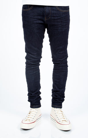 Blue Raw Denim Jeans