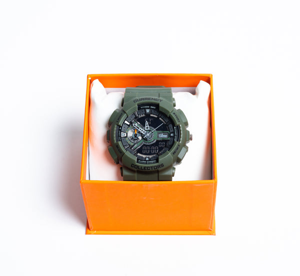 Currency Collectors Army Green Watch