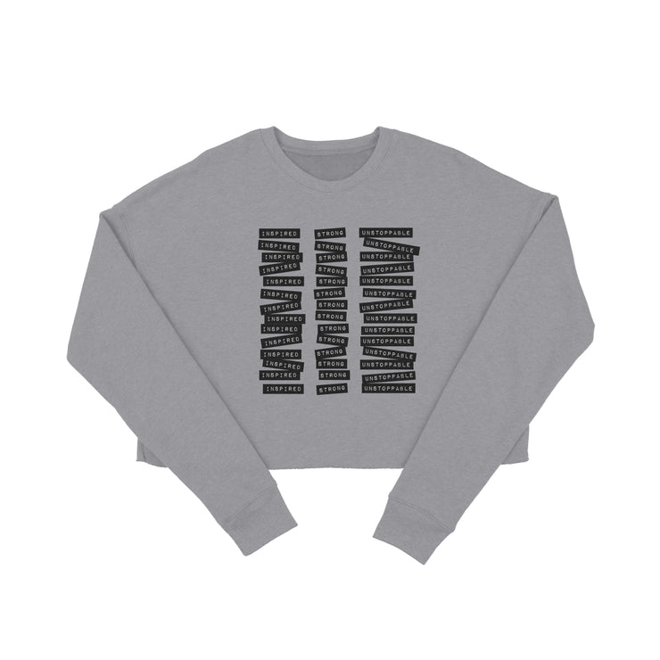 TYPEWRITER CROP SWEATER
