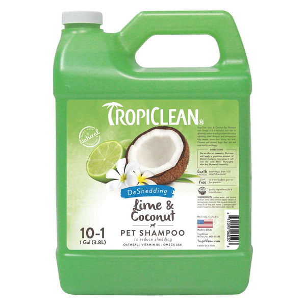 Tropiclean Lime/Coconut Shed Control Shampoo-gallon