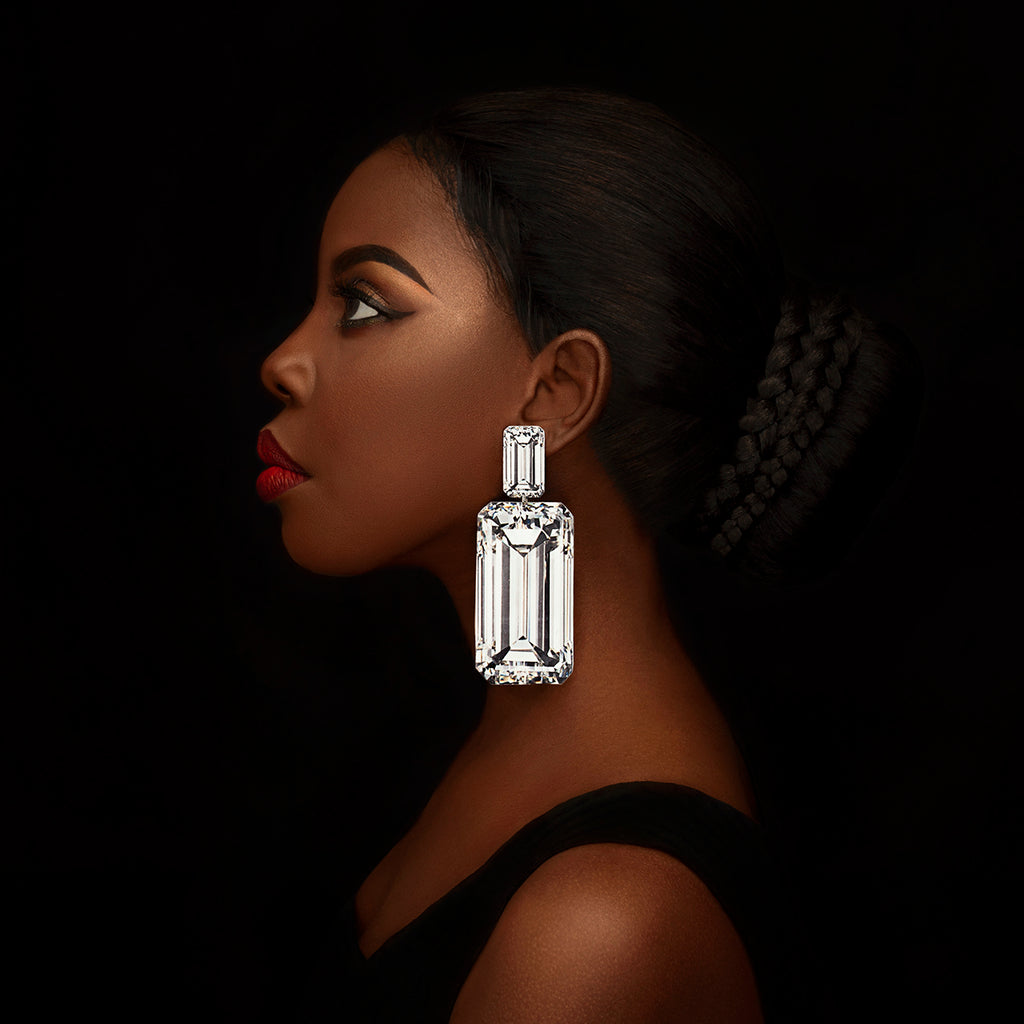 anna davern rocks earrings large baguette diamond