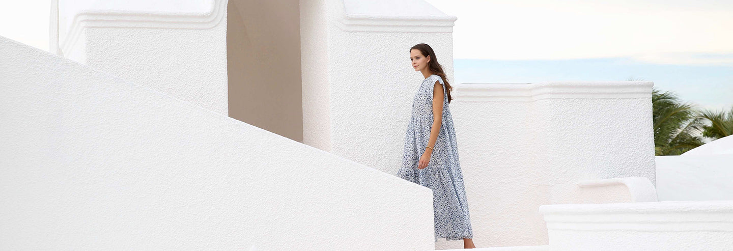 Designer: Mirth. Summer dresses in soft cotton and silk