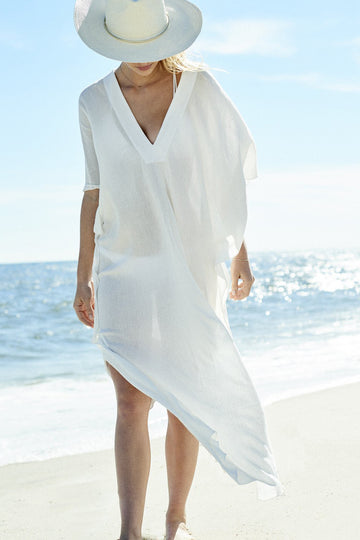 Sunita Caftan in White