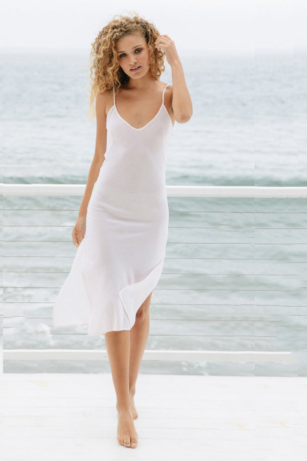Carmel slip dress in White