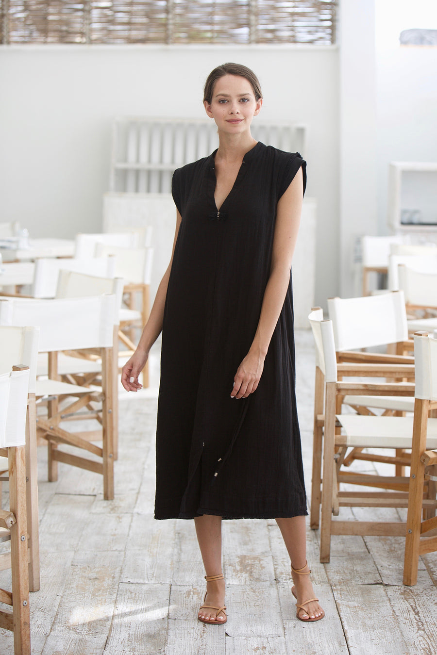 Big Sur Caftan in Black