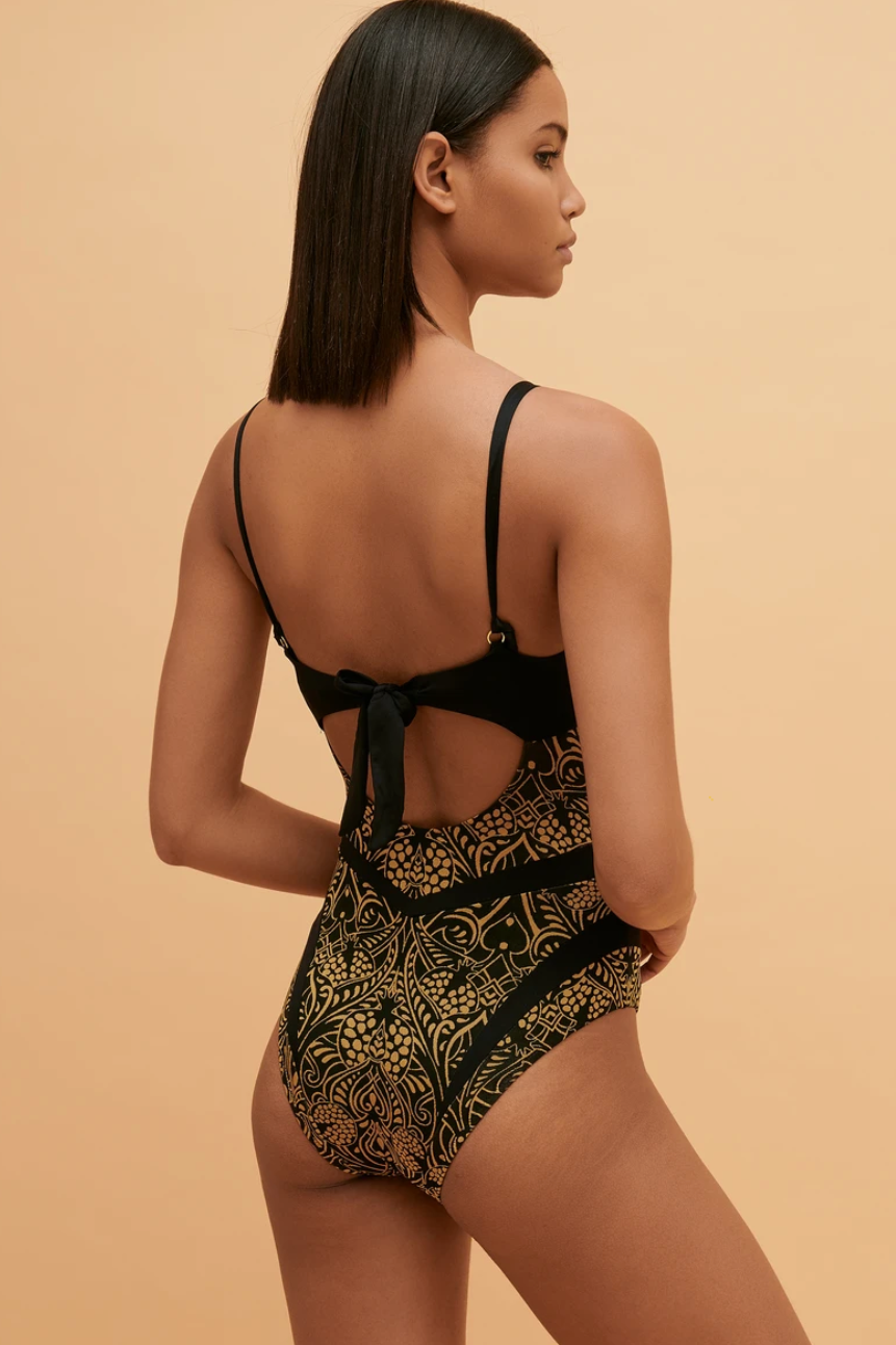 Cassiopeia One Piece in Black and Gold
