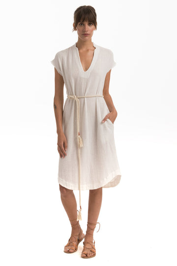 Cusp Dress in Chalk Cotton Mesh