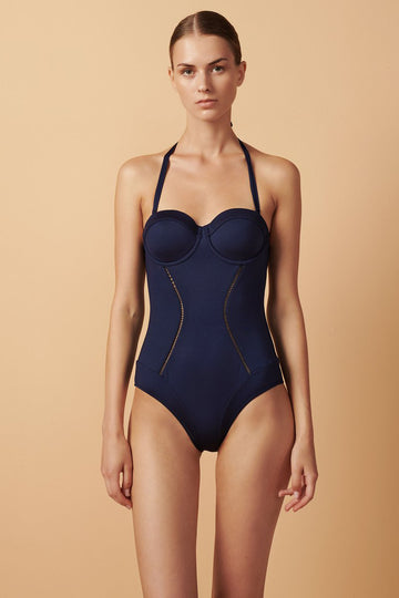 Joplin One Piece in Navy Blue