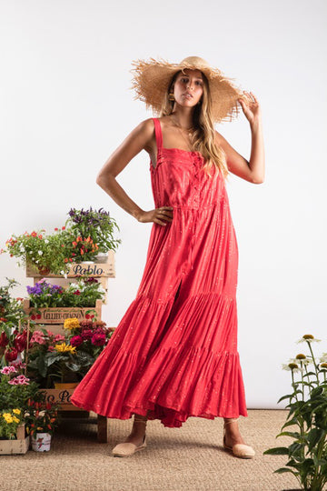 Lucia Dress in Red