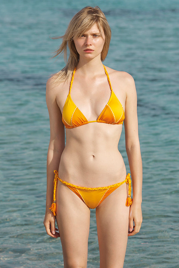 Merrimack Two Piece Bikini in Saffron