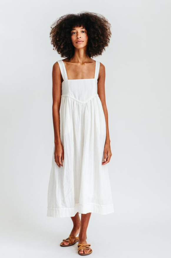 Newport Dress in White
