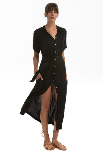 Palma Dress in Onyx Summer Luxe
