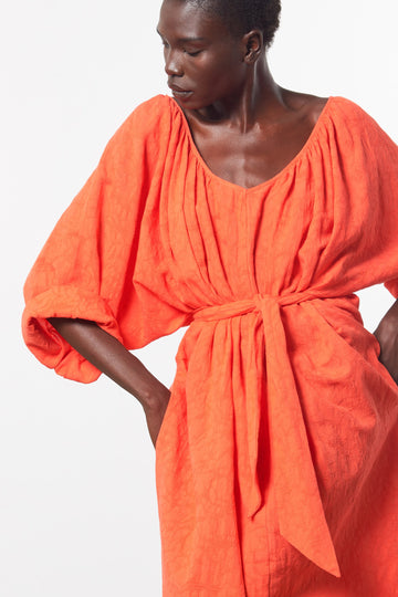 Luz Cover-Up Dress in Orange