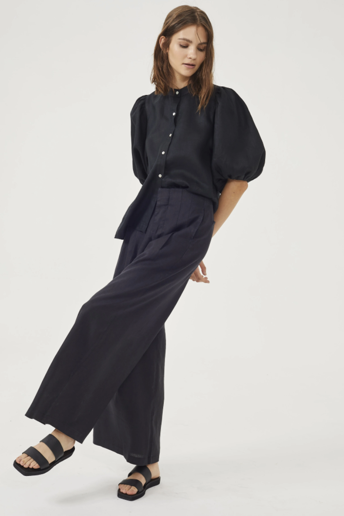 Culotte Pant Trousers in Black