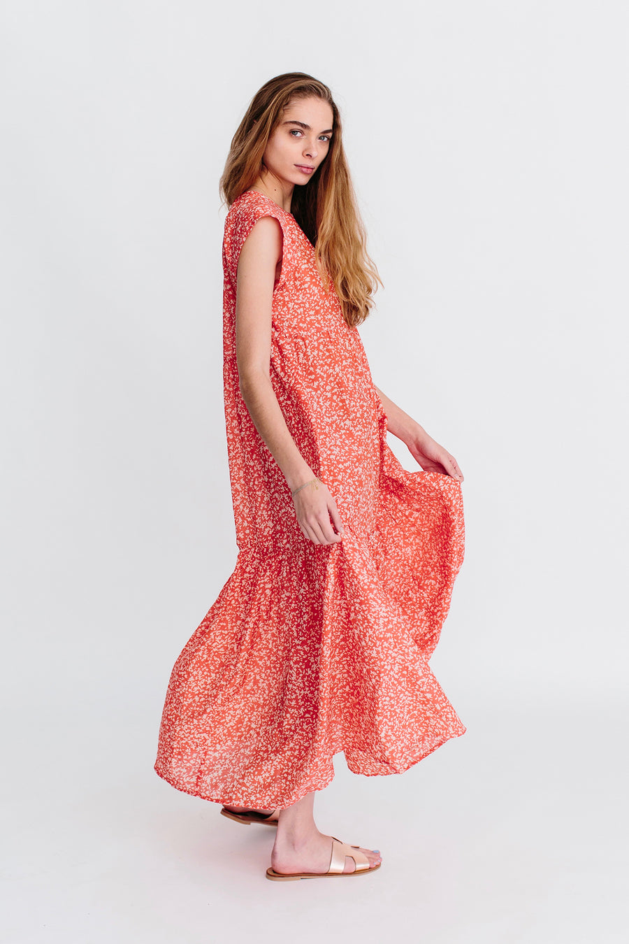 Vienna Maxi Dress in Poppy