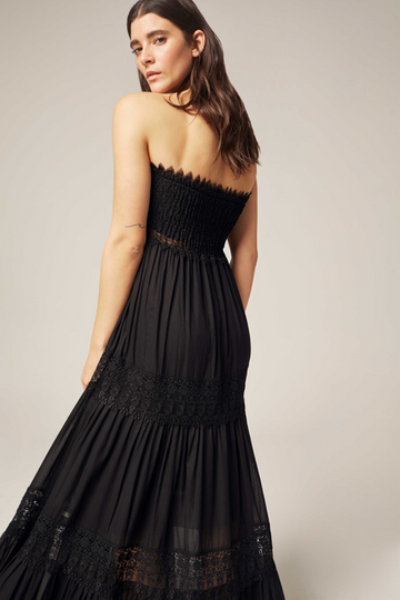 Zoe Long Dress in Black